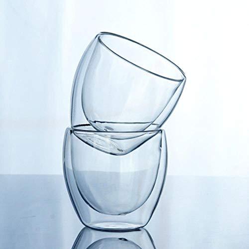 KWHY 150 Of 250 Of 350 Of 450 Ml Glazen Dubbelwandige Transparante Koffiekopjes Isoleer Kantoor Thee, Helder, 250 Ml