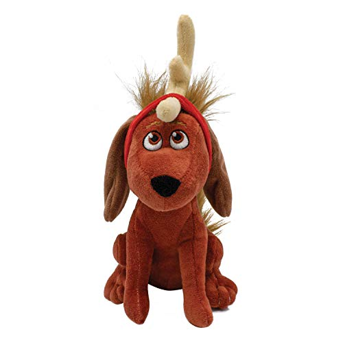 Grinch Max Plush Dog Toy | Soft and Cuddly Dr. Seuss Grinch Squeaky Dog Toy | Christmas Stocking Stuffers for Your Pet, Fun and Cute Toys for All Dogs