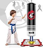 Dripex Sacco da Boxe per Bambini, Sacco da Boxe da Terra Professionale Altezza in Piedi 120 cm Base in Acciaio...