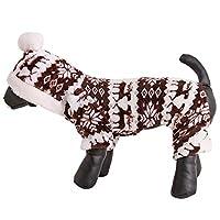 LJSLYJ 犬の服 犬のジャンパー 冬のセーター 子犬のコート ドレス セーター アパレル パーカー プルオーバー 猫の服装,褐色,M