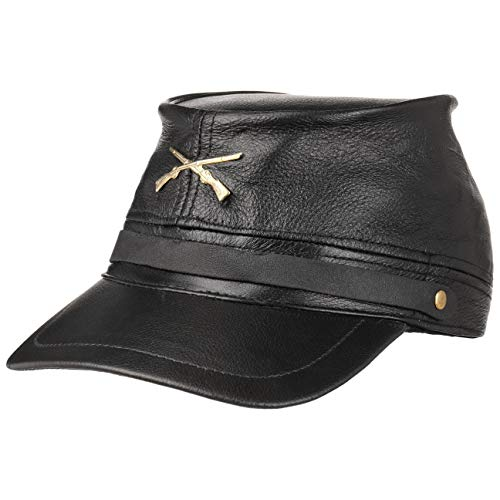 Hutshopping Civil War Hat Black Staatenmütze Ledermütze Kappe (One Size - schwarz)