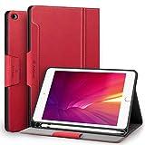 Antbox Hülle für iPad Mini 5 2019 7.9 Zoll/iPad Mini 4 mit Apple Pencil Halter Auto Schlaf/Wach Funktion PU Ledertasche Schutzhülle Smart Cover mit Stand Funktion (Rot)