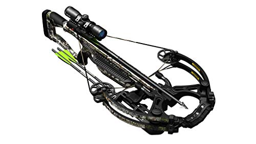 BARNETT Whitetail Hunter STR Crossbow, Mossy Oak Bottomland, Premium Illuminated 4x32 Scope, Mountain Country Camo (BAR78264)