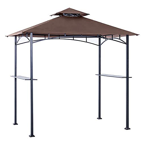 ABCCANOPY Grill Shelter Replacement Canopy roof for Model L-GZ238PST-11 (Brown)