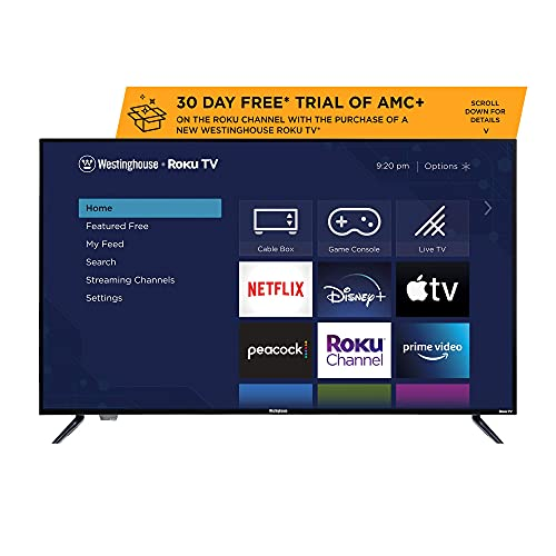 Westinghouse 43 inch Model WR43UX4019 Roku 4k Ultra HD LED Smart TV with HDR (Renewed)