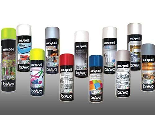 Rugoplast - Esmalte en spray para pintar hierros, rejas, portones, puertas, ventanas, madera, Varios Modelos, Blanco Brillo Ral 9010, 400 ml