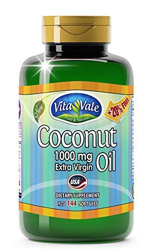 Óleo de Coco (Coconut Oil) Vitavale 144 cápsulas, Vitavale