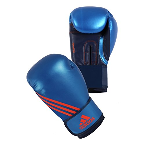 adidas Speed 100 Boxing Gloves (M/Blue, 12oz)
