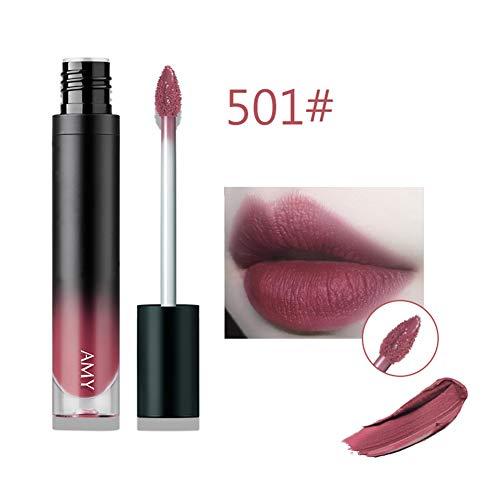 Matte lippenstift Waterbestendig Langdurig Non-stick Cup Lip Gloss, Hydraterend Lippenstift Bedenken Lippenstift, 5g,501