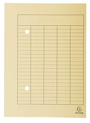 Exacompta 353522B archivos flotantes (cartón reciclado, 250g, presión organizacional, A4) 100-pack de Marfil ✅