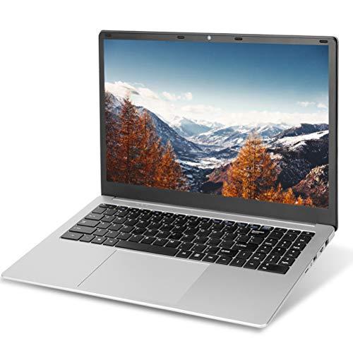 Ordenador portátil de 15,6 pulgadas, Full HD 1920 x 1080, Windows 10 Pro, procesador Intel J3455 Quad Core, 8 GB de RAM, SSD de 128 GB, teclado de chocolate de tamaño completo, WiFi, U1
