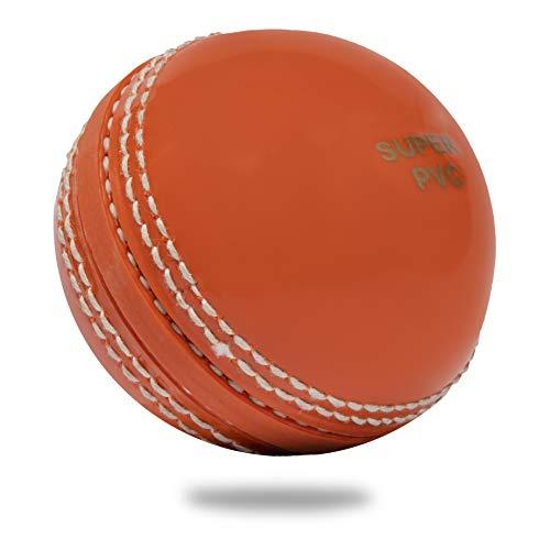 Cricnix Cricket Ball Super PVC Soft Orange (Pack of 1 Ball) for Backyard and Kids