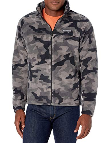 Columbia Men's Steens Mountain Printed Jacket, Black Camo, Medium