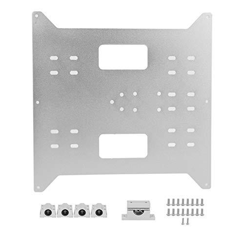 Placa de soporte de cama caliente de alta rigidez actualizada Placa de aluminio de cama caliente SC8UU deslizante ligero para Wanhao Duplicator i3/Anycubic i3 Mega