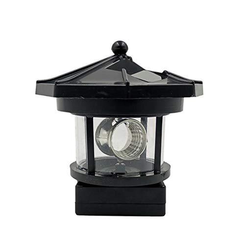 househome LED Solar Leuchtturm Mit Rotierender Leuchte, Wasserdicht Kabellos Solarbeleuchtung Dekoturm Aus Polyresin Für Gartendekoration, Outdoor Und Indoor, 9.5CMx9.5CM