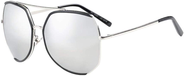 Fuqiuwei Sonnenbrillen Simple Wild Retro Big Box Female Sunglasses Round Face Polygon Slimming Sunglasses Female Face