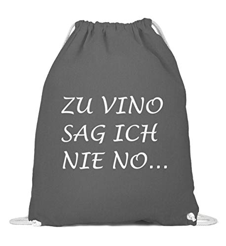 OneCode Bolso de algodón con texto en alemán 'Zu Vino Sag Ich Nie No', color blanco, color, talla 37cm-46cm