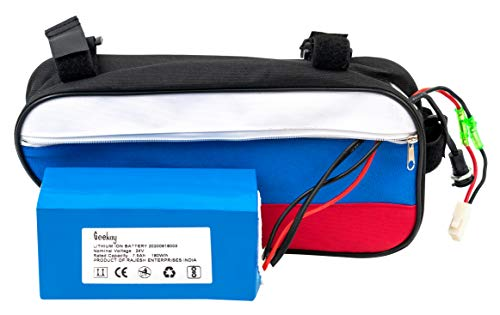 Geekay 24 Volt 7.5 Ah Lithium ion Battery for Electric Cycles   for 24 Volt 250 watt Electric Conversion Motor Kits   Li ion Batteries for E Bikes Kits (7.5 Ah Lithium Ion)