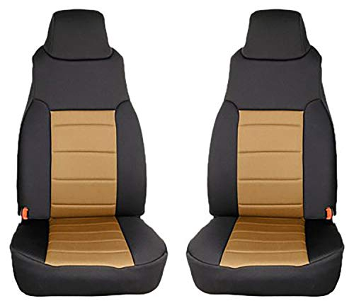 Rugged Ridge 13210.04 Black/Tan Custom Neoprene Front Seat Cover - Pair :