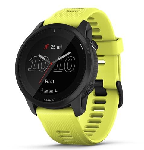 Garmin Orologio GPS Forerunner 945 LTE Bundle, neongelb-schwarz