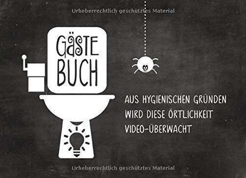 Gästebuch: Fürs Klo Lustig zum Ausfüllen Eintragen - Humor Buch Mit Kloordnung Regeln Sprüche...