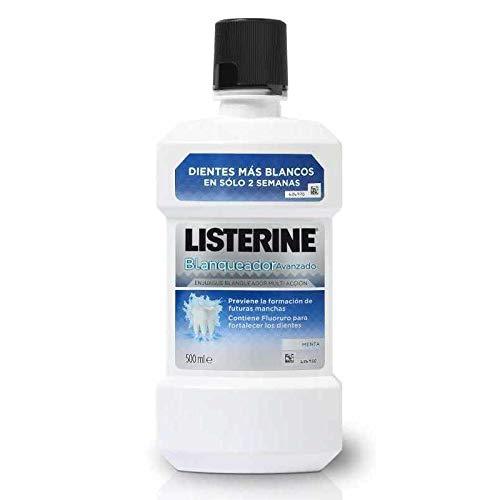 Listerine Enjuague Bucal, Blanqueador Avanzado 500 ml