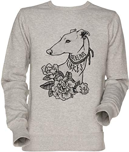 Vendax Seremos Libres - Greyhound Unisex Uomo Donna Felpa Maglione Grigio Men's Women's Jumper Sweatshirt Grey