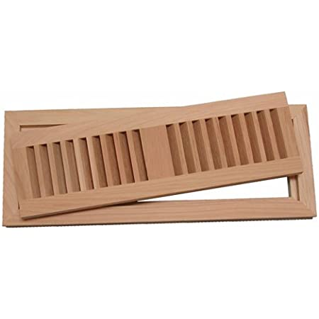 Hickory Hardwood Floor Vent 2 1 4 X 10 Flush Mount With Frame Unfinished Heating Vents