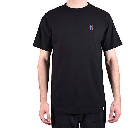 ガール GIRLSKATEBOARD スケボー Tシャツ SKULL OF FAME TEE NO316 (ブラック, Lサイズ)