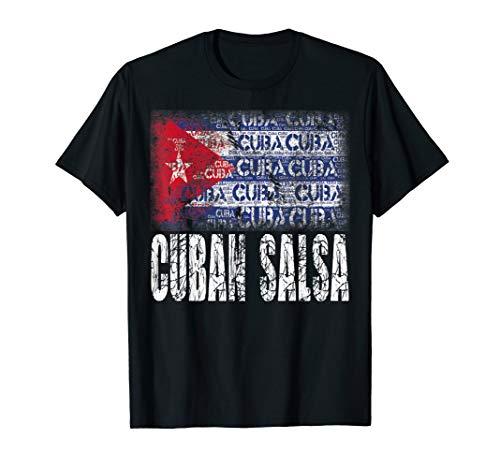 Cuban Salsa Kuba Flagge T-Shirt I Timba Cubana Tanzkleidung