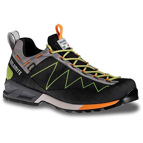 Dolomite Zapato Crodarossa Lite GTX, Shoe Mixte Adulte, Noir Vert Kiwi, 47 EU