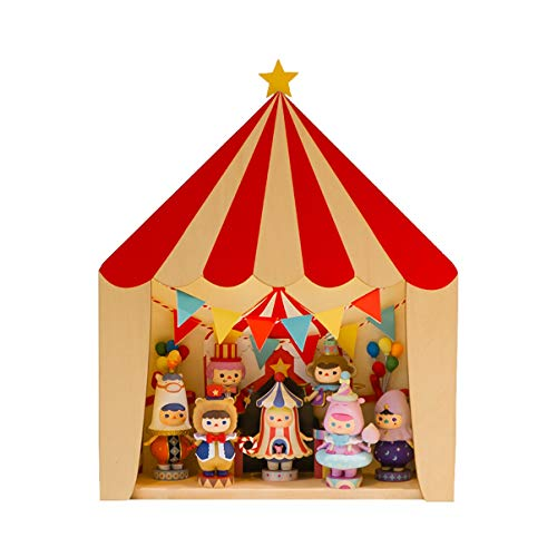 Circus Tent House Scene Display Box Hand-Made Storage POPMART Bubble Matt Bichmi Doll Can Be Wall-Mounted Storage Box