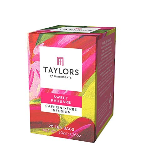 Taylors of Harrogate Sweet Rhubarb Infusion, 20 Teabags (Pack of 3)