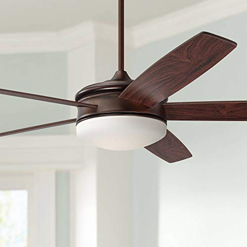 70' Coastline Modern Ceiling Fan with Light LED Dimmable Remote Control Oil...