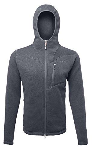 SHERPA ADVENTURE GEAR Men's Amdo Tech Hooded Jacket Large Kharani/Grey