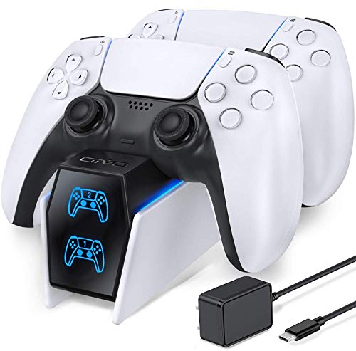 PS5 Controller Charger Station, PS5 Charging Station with Fast Charging AC Adapter 5V/3A, Playstation 5 Dual Controller Charging Stand, OIVO Docking Station Replacement for DualSense Charging Station