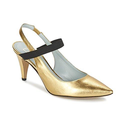 Marc Jacobs Valery Zapatos De Tacón Mujeres Oro - 36 - Zapatos De Tacón Shoes