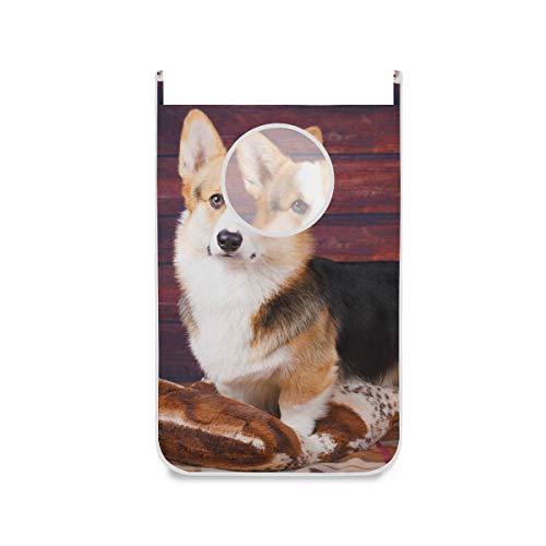 XiangHeFu wasmand badkamer Corgi hondenmand stoffen zak opvouwbare grote deur ophangen