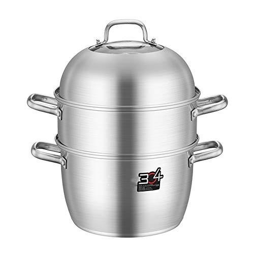 28cm 3 Tier Food Steamer Pan/Voorraad Pot, Dikke Steamer Inductie Kookplaat Steamer met Glas Deksel Kookpot & Pan Set,Voedselstomer