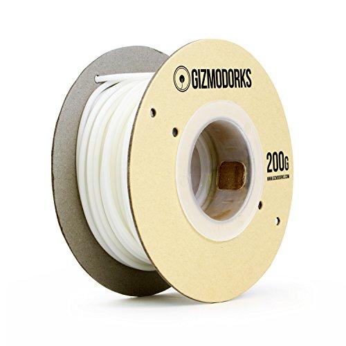 Gizmo Dorks Acetal Delrin filamento para impresoras 3d 3mm (2.85mm) o 3mm, 200g, color blanco