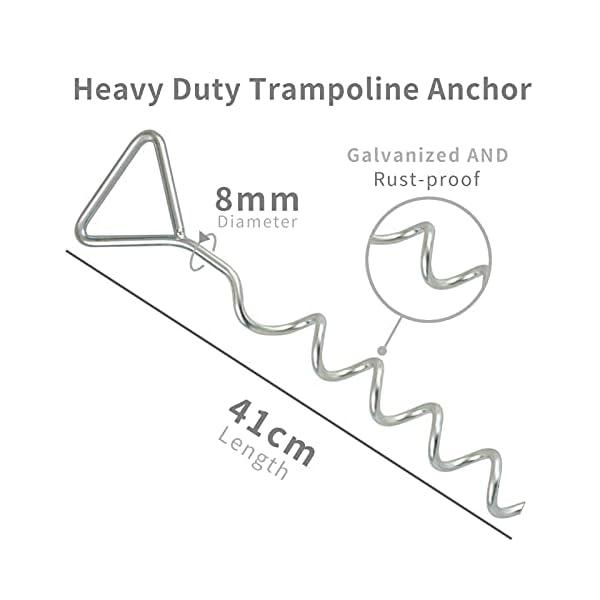 Jinhuaxin Trampoline Tie Down Kit, Heavy Duty Trampoline Anchor Kit, Trampoline Ground Anchor Kit for Trampolines…