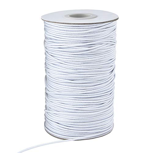 Zealor 100 Yards 2 mm Elastic Cord Stretch String Elastic Beading Cord Craft Thread for Jewelry Making (White)