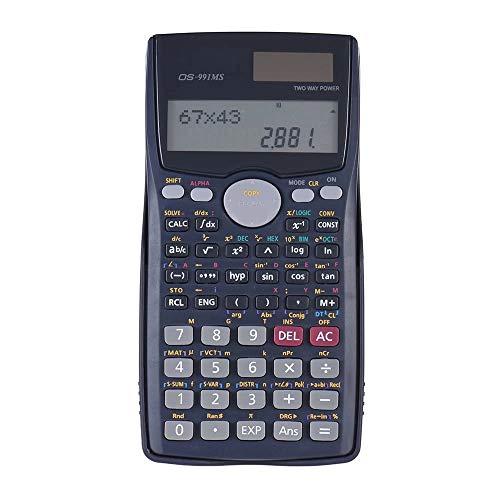 Office Rekenmachine Scientific Calculator Counter Matrix Dot Vector Equation Bereken Solar Cijferweergave Standaardfunctie (Color : Black, Size : One size)