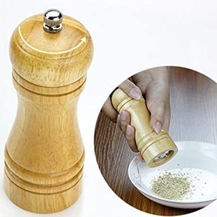 Ad Fresh Wooden Salt and Pepper Mill, Multicolour