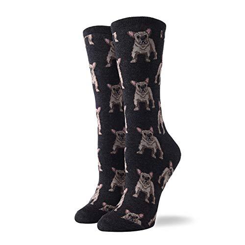 DYCZWZ Lässige Sportsocken 2 Paar Baumwolle Lustige Süße Frauen Socken Socken Animal Print Elefant Katze Hund Schwein Papagei Eule Wow Cartoon