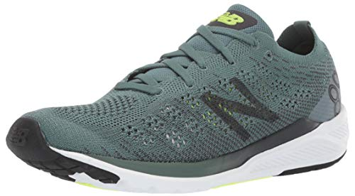 New Balance Men's 890v7 Running Shoe, Dark Agave/ORCA/Bleached Lime GLO, 9 D US