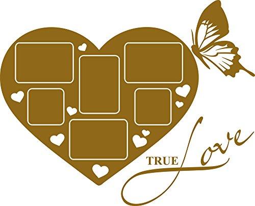 GrazDesign 160071 Wandtattoo voor bruiloft, geschenk fotowand, wanddecoratie, huwelijkscadeau, fotolijst 092, koper