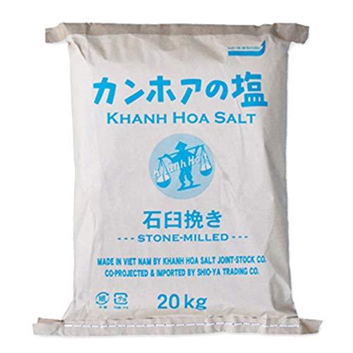 カンホアの塩(粉末タイプ石臼挽き :業務用20kg袋入り) 商品番号:ke3029