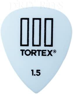 Mod/èle Tortex TIII Dunlop Lot de 12 m/édiators//plectres 0,73 mm Jaune dans une bo/îte de rangement pratique