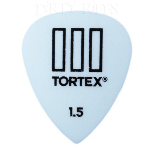 Dunlop Tortex TIII - Púas para guitarra (24 unidades, 1,50 mm), color blanco